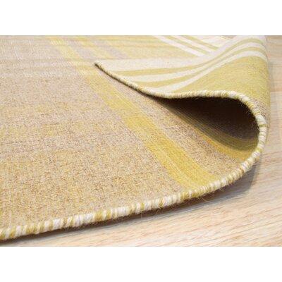Chelton Hand-Woven Wool Yellow Area Rug Rug Size: 9 x 12