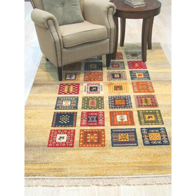 Archimbald Wool Orange/Beige/Red Area Rug