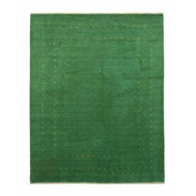 Dreher Handmade Green Area Rug Rug Size: 6 x 9