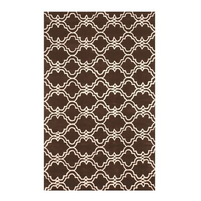 Radcliffe Hand-Tufted Wool Brown Area Rug