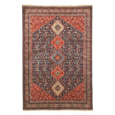 Middleton Hand-Knotted Wool Blue/Red Area Rug