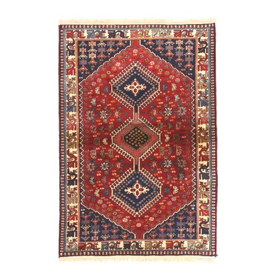 Middleton Hand-Knotted Wool Red Area Rug