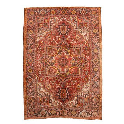Aren Hand-Knotted Wool Red Area Rug