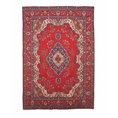 Molly Hand-Knotted Wool Red Area Rug
