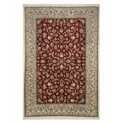 Griselde Hand-Knotted Wool Red Area Rug