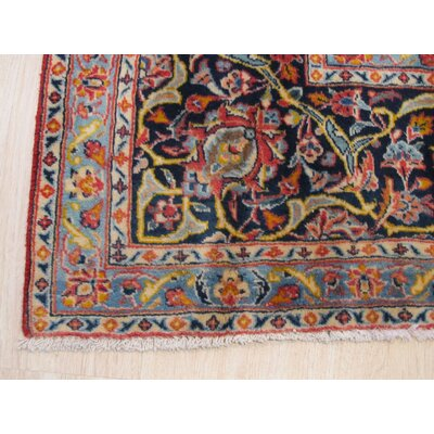 Ardal Hand-Knotted Wool Red Area Rug