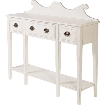 Console Table Finish: Antiqued White