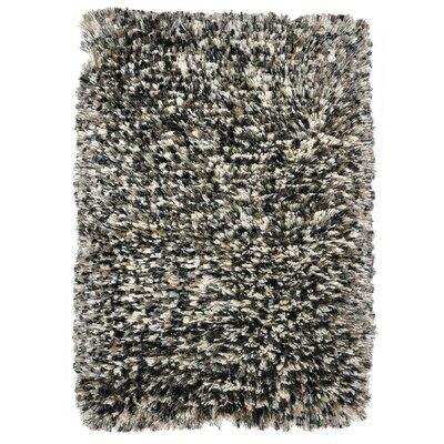Elegante Luna Pearl Gray Shag Area Rug Rug Size: 2 x 3