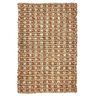 Intoppo Jute Rust/Natural Area Rug Rug Size: 5 x 8