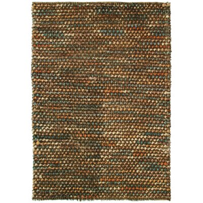 Caillou Pebble Shag Brown Area Rug Rug Size: 4' x 6'