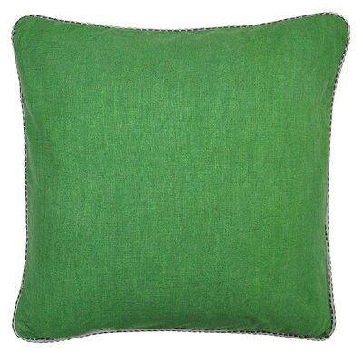Parkway Cotton Throw Pillow Color: Green