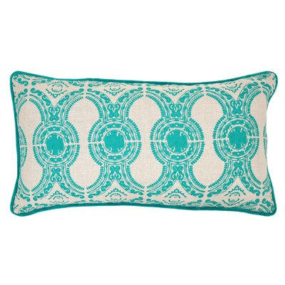 Emille Linen Throw Pillow Color: Turquoise