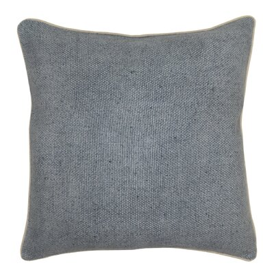 Quinn 100% Cotton Throw Pillow Color: Slate Blue