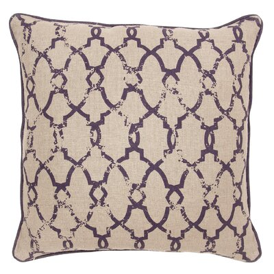 Shaw Cotton Throw Pillow Color: Plum