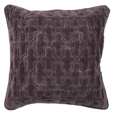 Taryn Cotton Throw Pillow Color: Iron