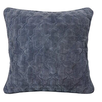 Taryn Cotton Throw Pillow Color Slate Blue