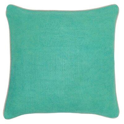 Quinn Cotton Throw Pillow Color: Jungle Green