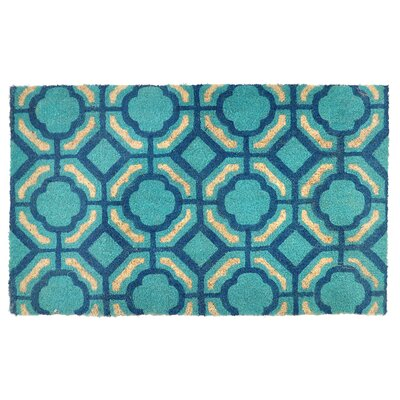 Madeline Doormat Color: Blue / Teal