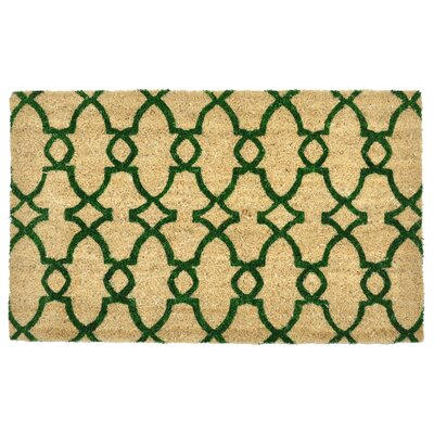 Trinity Geometric Doormat Color: Green