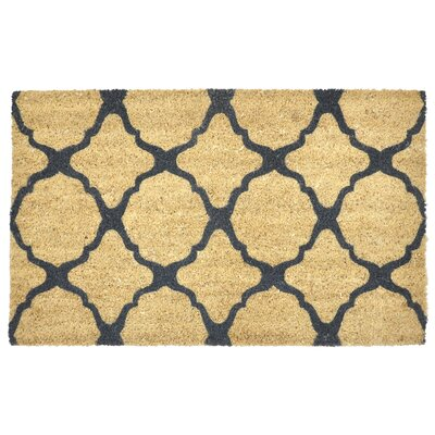 Natalie Geometric Doormat Color: Gray