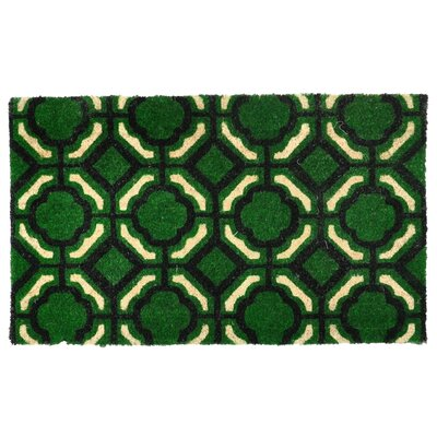 Madeline Doormat Color: Black / Green