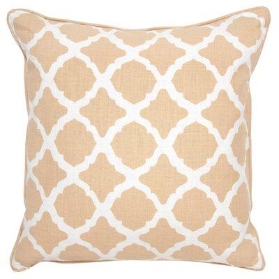 Colette Cotton Throw Pillow Color: Camel