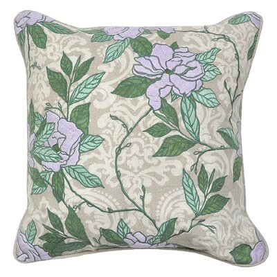 Sybill Cotton Throw Pillow Color: Lavender