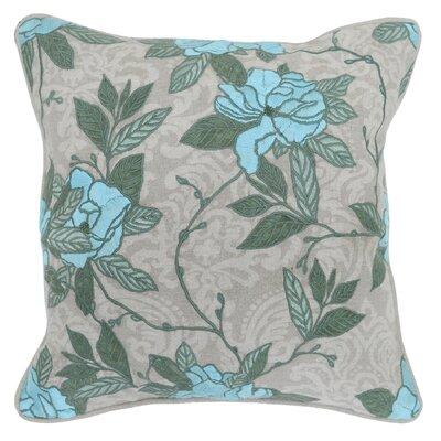 Sybill Cotton Throw Pillow Color: Crystal Blue