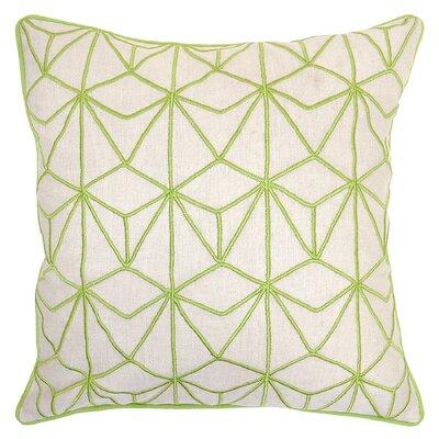 Kappa Cotton Throw Pillow Color: Lime