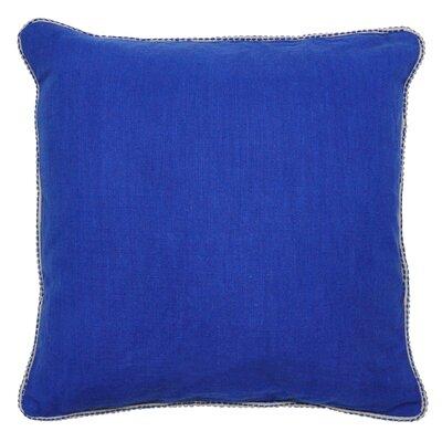 Varina Cotton Throw Pillow Color: Dark Blue