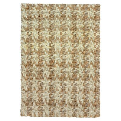 Dogtooth Handspun Jute Bleach/Natural Area Rug Rug Size: 5 x 8