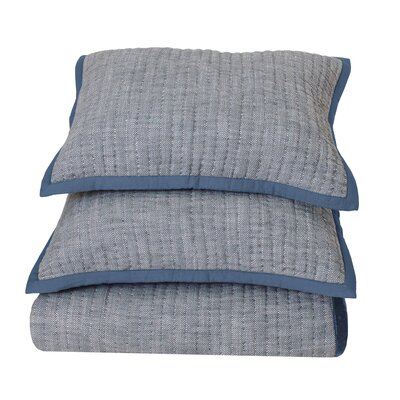 Aurora Reversible Quilt Size: Full/Queen, Color: Denim Blue
