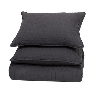Corinne Reversible Quilt Size: Full/Queen, Color: Charcoal