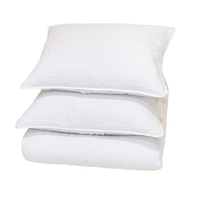 Corinne Reversible Quilt Size: Full/Queen, Color: White