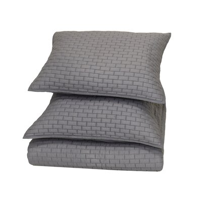 Ember Reversible Quilt Size: King, Color: Grey