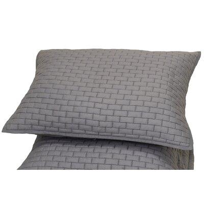 Ember Sham Size: Standard, Color: Grey