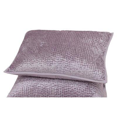 Delit Rayon Velvet Sham Size: Euro, Color: Lavender