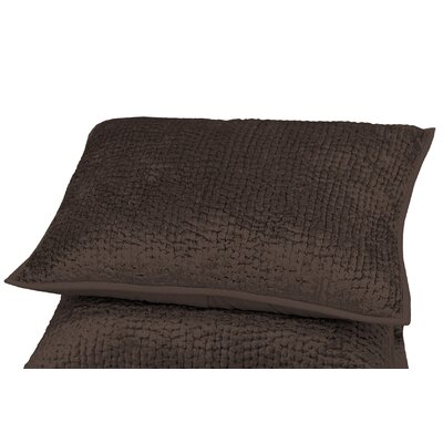 Delit Rayon Velvet Sham Size: Standard, Color: Chocolate