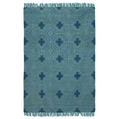 Kosas Home Sofia Flatweave Teal Indoor/Outdoor Area Rug - Rug Size: 5' x 8'