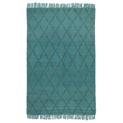 Kosas Home Amelia Overdyed Teal Indoor/Outdoor Area Rug - Rug Size: 8' x 10'