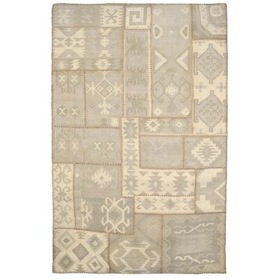 Annabelle Kilim Ivory Patchwork Indoor/Outdoor Area Rug Rug Size: 5 x 8
