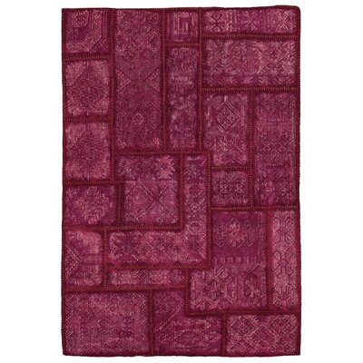 Annabelle Kilim Berry Patchwork Indoor/Outdoor Area Rug Rug Size: 4 x 6