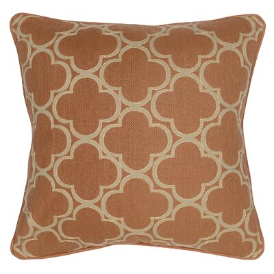 Rachel Cotton Throw Pillow Color: Mandarin