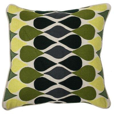 Raindrop Throw Pillow Color: Green / Multi