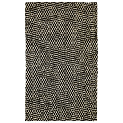 Opus Black/Bleach Indoor/Outdoor Area Rug Rug Size: 4 x 6
