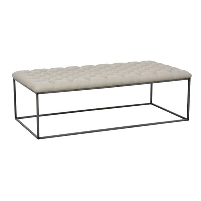 Brett Coffee Table Size: 18 H x 58 W x 28 D, Color: Flax