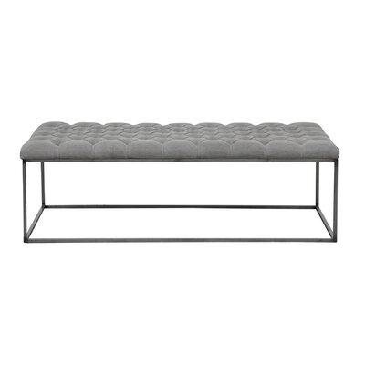 Brett Coffee Table Size: 18 H x 58 W x 28 D, Color: Granite