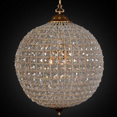 Allesandria 3-Light Crystal Pendant Size: 24 H x 18 W x 18 D