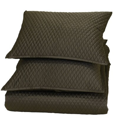 Dalila Reversible Quilt Size: Full/Queen, Color: Chocolate