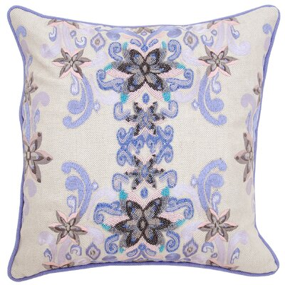 Madelyn Cotton Throw Pillow Color: Lavender
